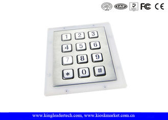 12 Backlit Stainless Steel Keys Panel Mount Metal Numeric Keypad 3×4 Matix