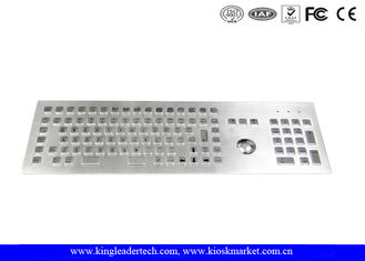 Ruggedized Industrial Metal Stainless Steel Keyboard With Integrated Optical Trackball
