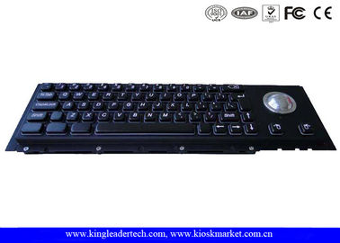 Custom Dust-Proof Black Metal Keyboard 63 Keys With Panel Mount