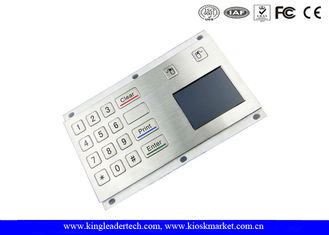 Panel Mount Industrial Metal Numberic Keypad With Touchpad For Workstations
