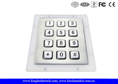 12 Full Travel Button Metal Keys Industrial Numeric Keypad For Ticket Machines