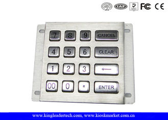 16 Long Travel Button Metal Numerical Keypad Rugged For Industrial